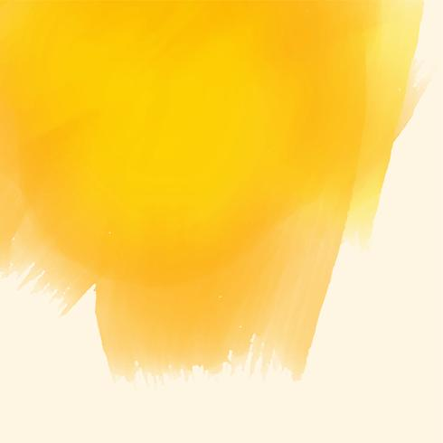 yellow watercolor paint brush stroke background