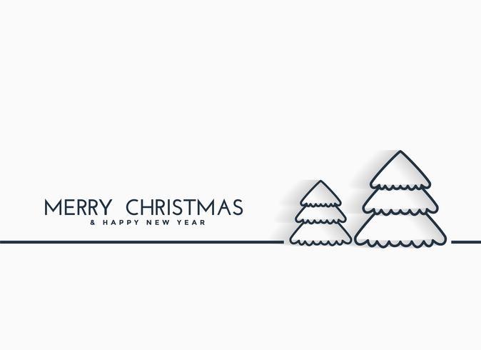 minimale Linien Weihnachtsbaum Design-Hintergrund