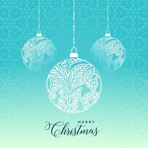 dekorativa glada julkula på blå bakgrund