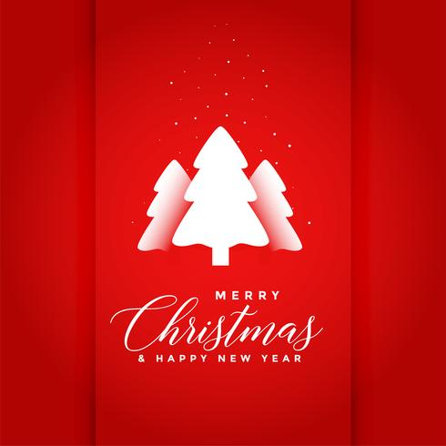 sfondo rosso buon albero di Natale