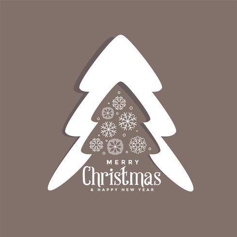 dekorativer Weihnachtsbaumentwurf mit Schneeflocken