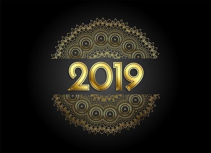 sfondo decorativo 2019 stile mandala dorata premium