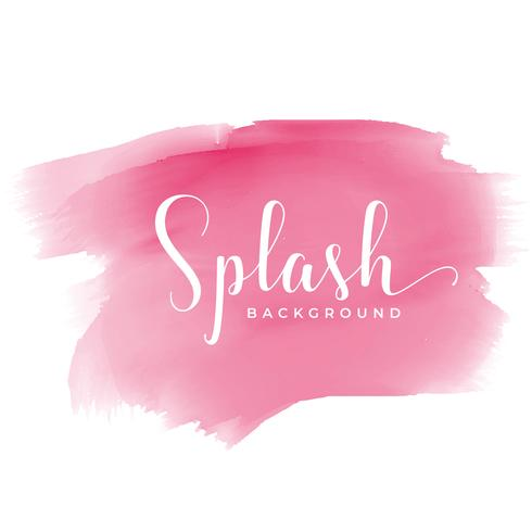 pink watercolor stain effect background