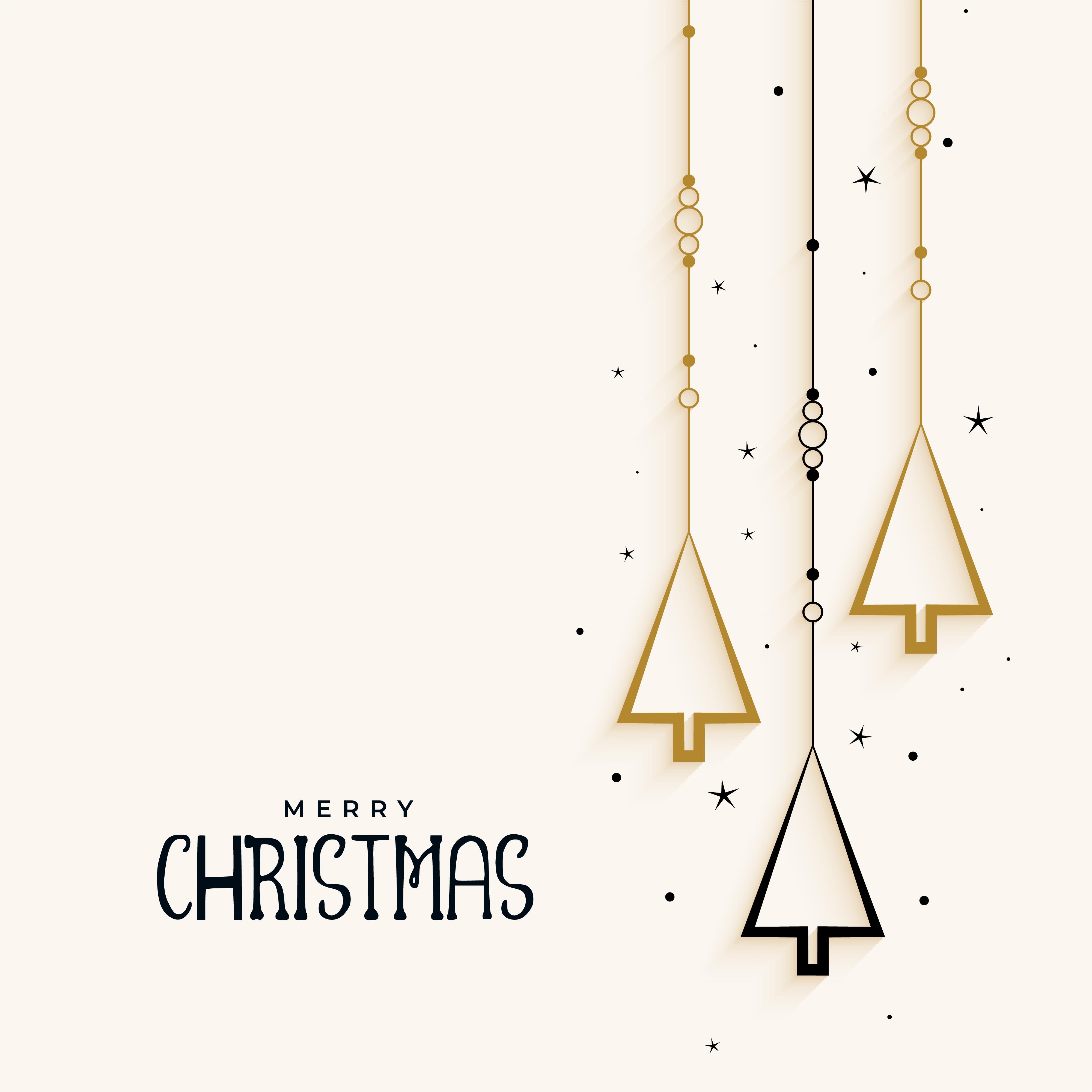 Stylish Christmas Tree Elegant Background