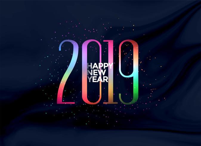 elegante 2019 feliz ano novo fundo colorido