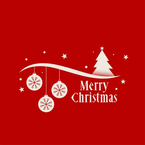 red merry christmas background decoration greeting