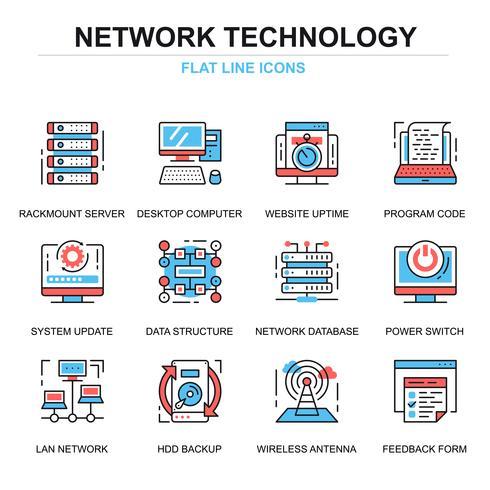 Conjunto de iconos de tecnología de red