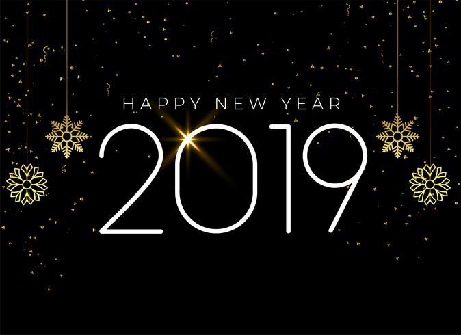 feliz año nuevo 2019 fondo estacional