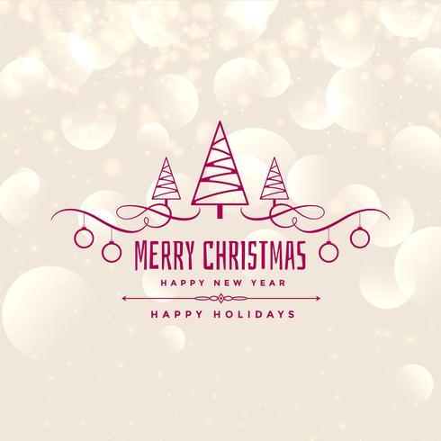 Diseño brillante del fondo de la Feliz Navidad encantadora