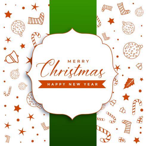 elegante saludo de feliz navidad con elementos decorativos