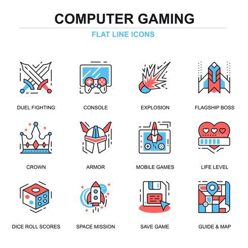 Leisure Mobile Gaming Icon Set