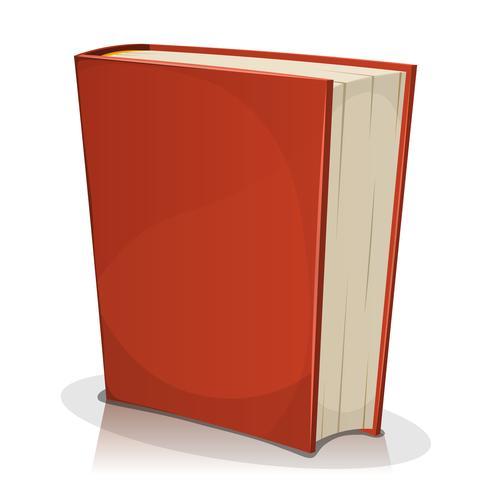 Rode boekomslag op wit wordt geïsoleerd