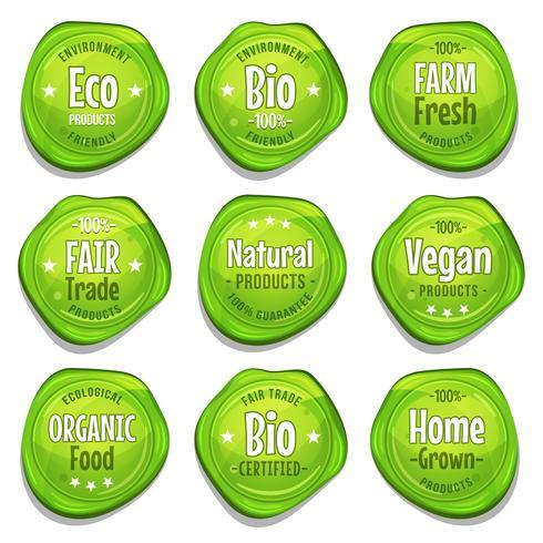 Bio en Eco Seal Stamper vector