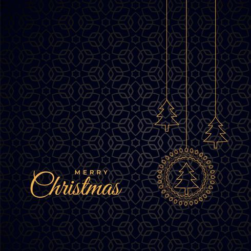 stilig god jul mörk bakgrund med träd