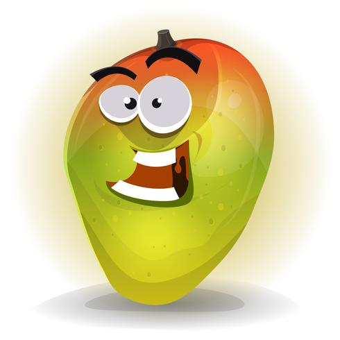 Cartoon Funny Mango Character vector