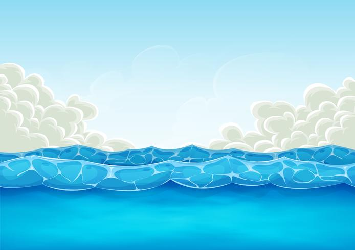 Summer Ocean Background For Ui Game vector