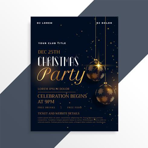 volante de la fiesta de Navidad oscura de lujo en tema de oro