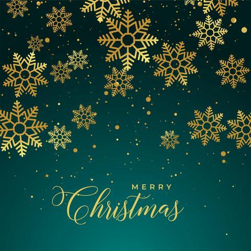 god jul bakgrund med gyllene snöflingor
