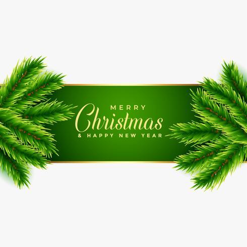 kerstboom verlaat achtergrondontwerp