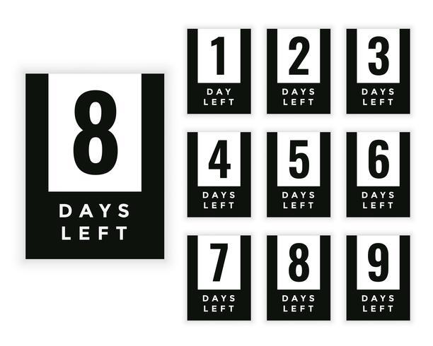 Antal dagar kvar märke eller klistermärke design