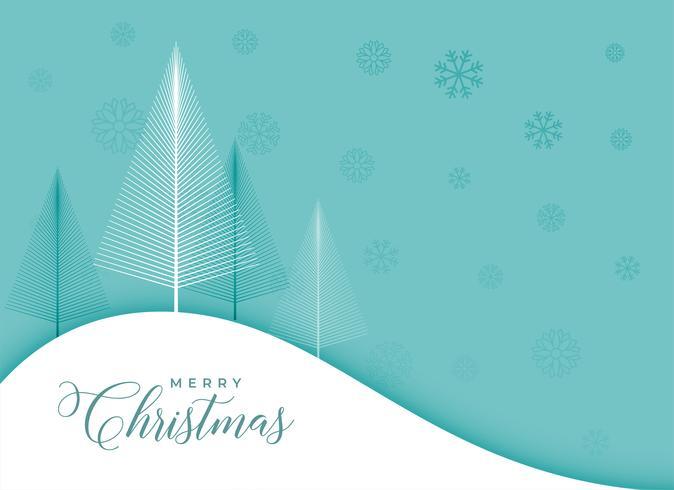 design élégant arbre de Noël hiver et flocons de neige