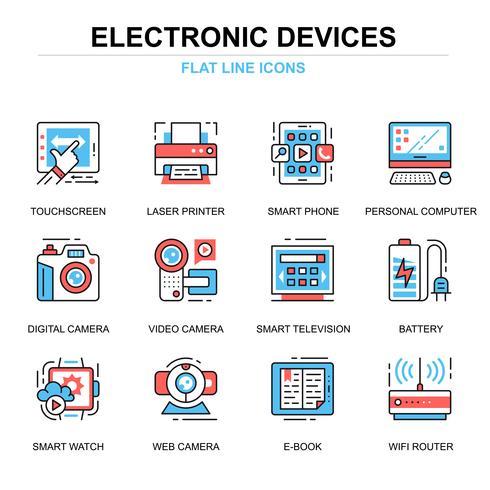 Elektronische apparaten Icon Set