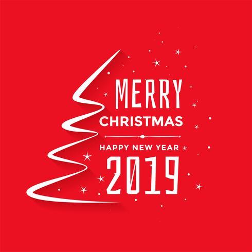 feliz Natal e ano novo fundo saudação vermelho