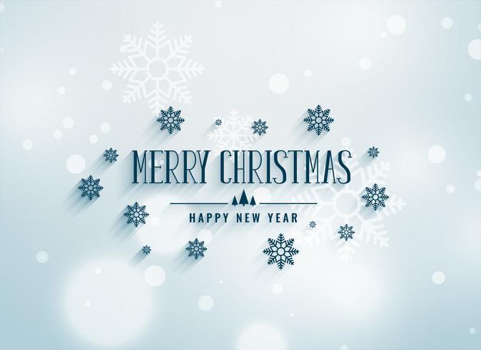 Merry Chrismtas sneeuwvlokken decoratie achtergrond