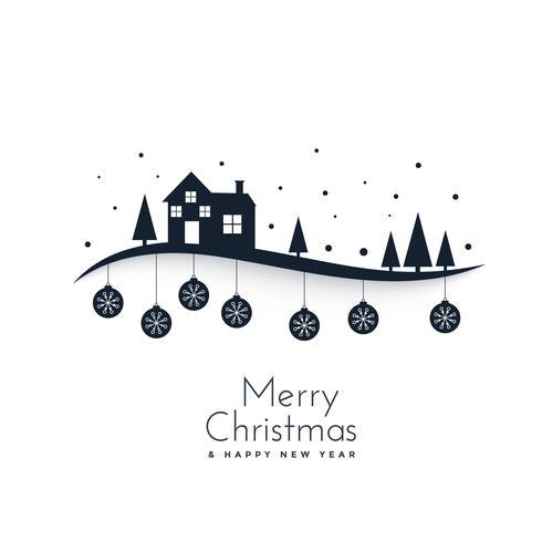 fantastisk vinterscene för god julfestival