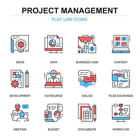 Conjunto de ícones de gerenciamento de projetos