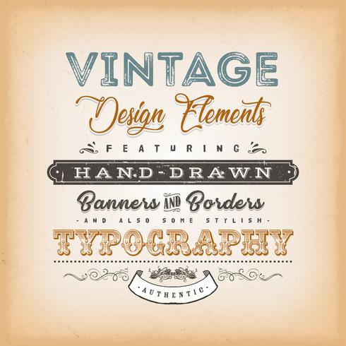 vintage etikett skylt vektor