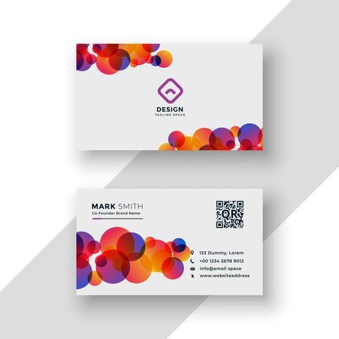 stilfull färgrik cirklar visitkortdesign