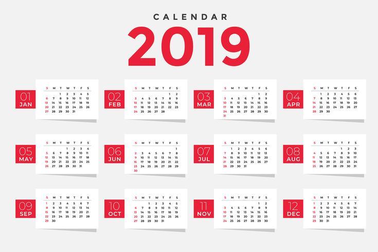 ren 2019 kalender mall design
