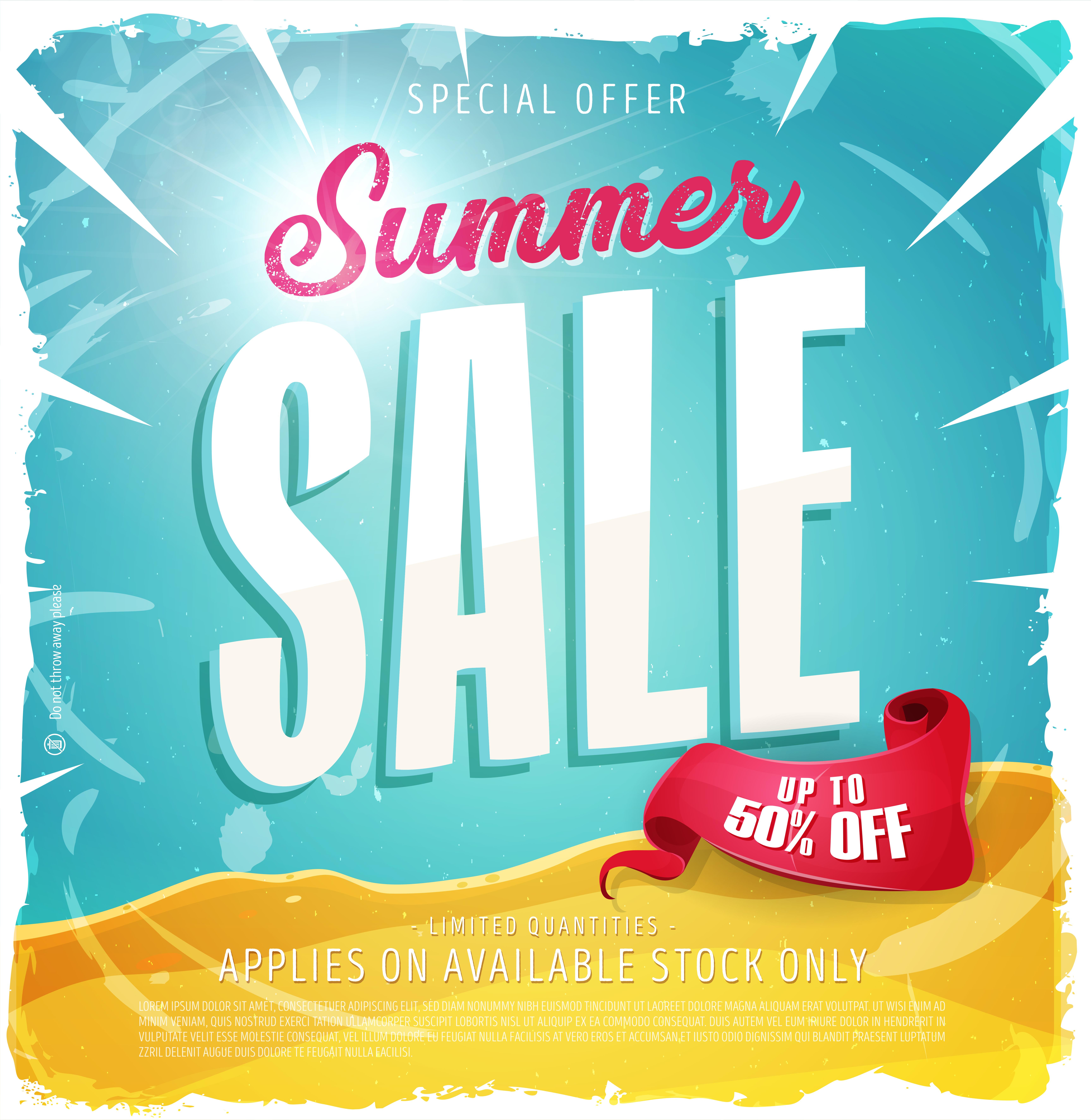 Summer Sale Template Banner - Download Free Vectors ...