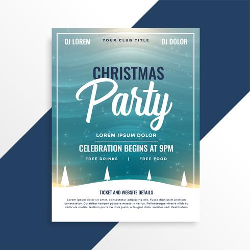 merry christmas beautiful party event flyer design