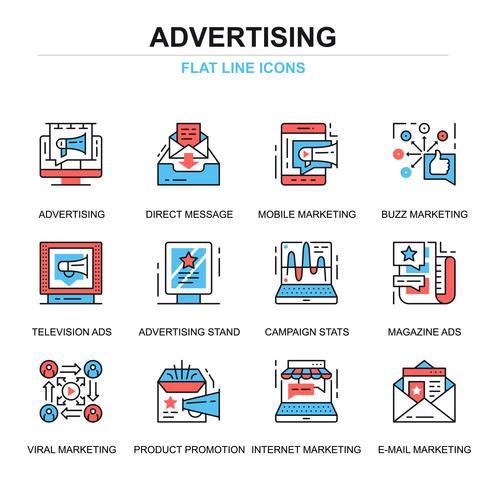 Set di icone di pubblicità