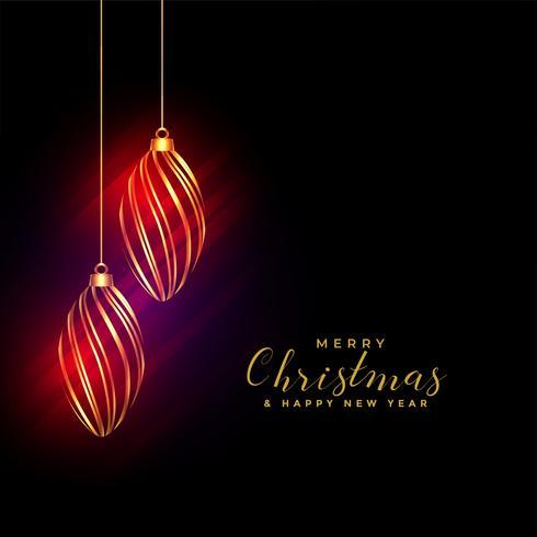 glanzende gouden kerst ballen achtergrond met glanzende lichten