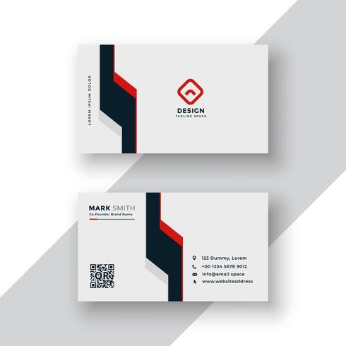 design minimale biglietto da visita geometrico