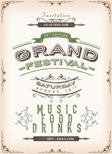 Fondo del cartel del festival de la vendimia vector