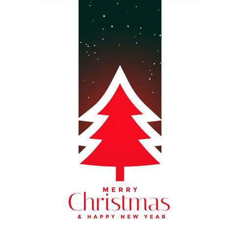 disegno di sfondo rosso albero di Natale
