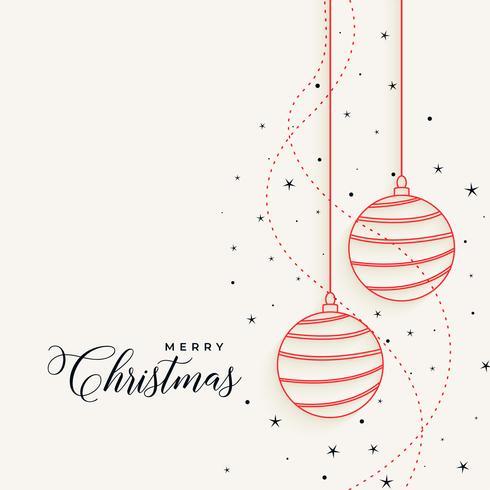 Elegante navidad colgando de la línea bolas con estrellas.