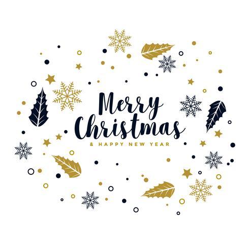 joyeux fond de Noël avec des éléments décoratifs d'ornement