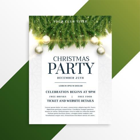 Weihnachtsfeiertags-Party Flyer Designvorlage