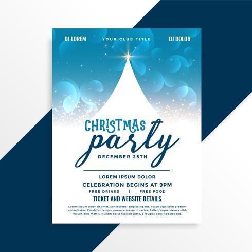 joyeux noël célébration conception flyer party