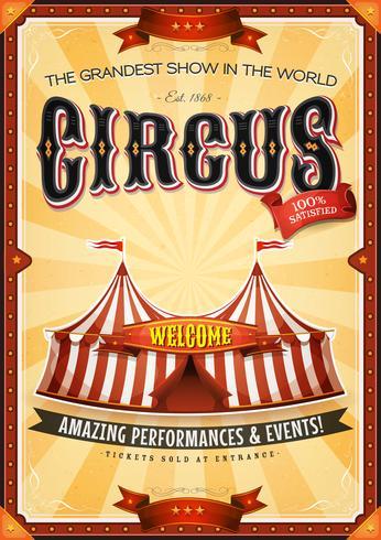 Vintage Grand Circus Poster med Markera