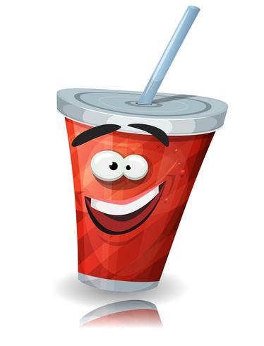 Copa de personaje de soda con paja
