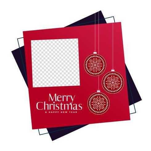 Rahmen der frohen Weihnachten mit Bildraum