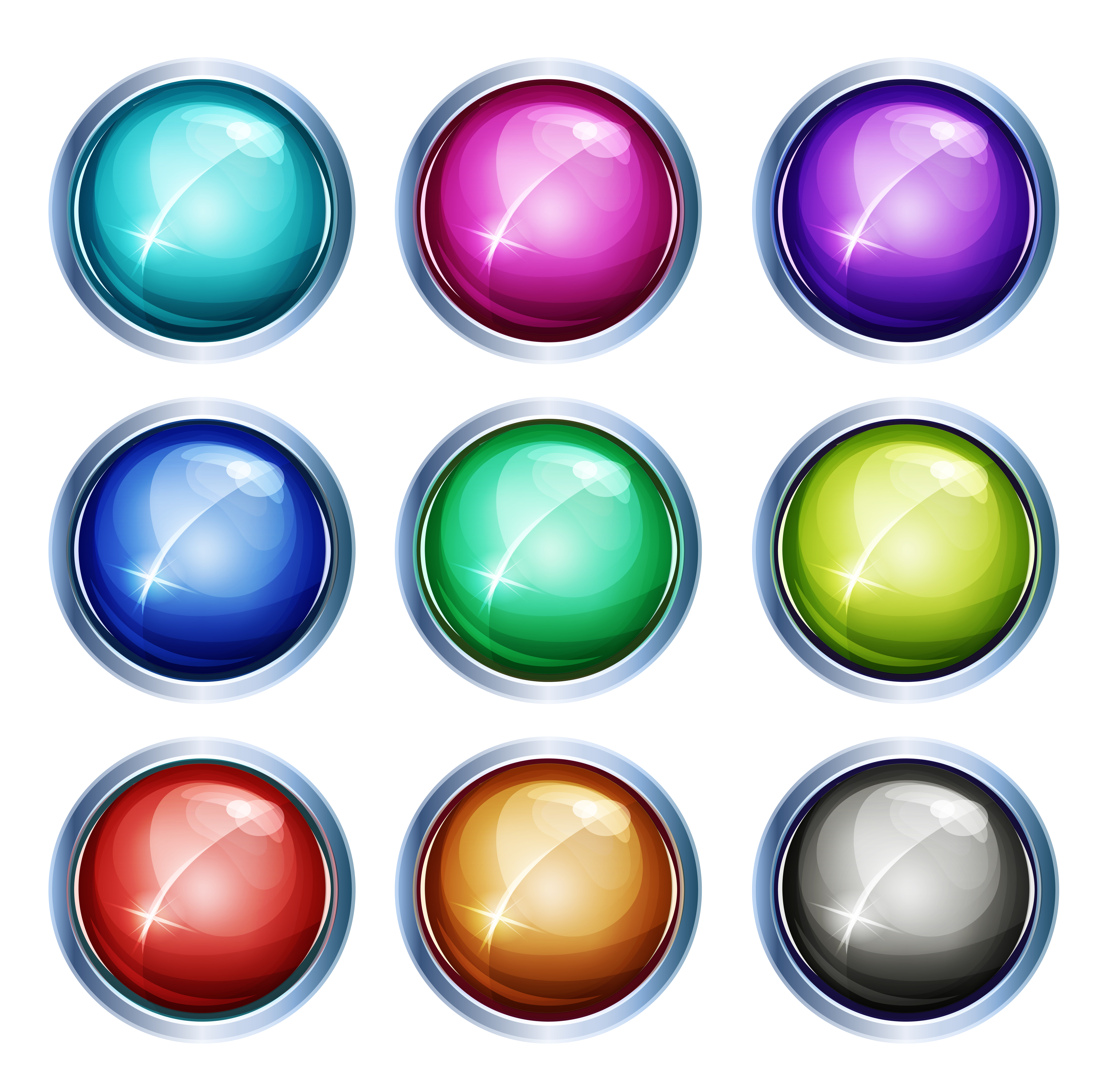 Rounded Light Icons And Buttons Download Free Vectors