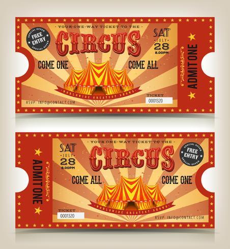 Billets d'entrée Vintage Circus