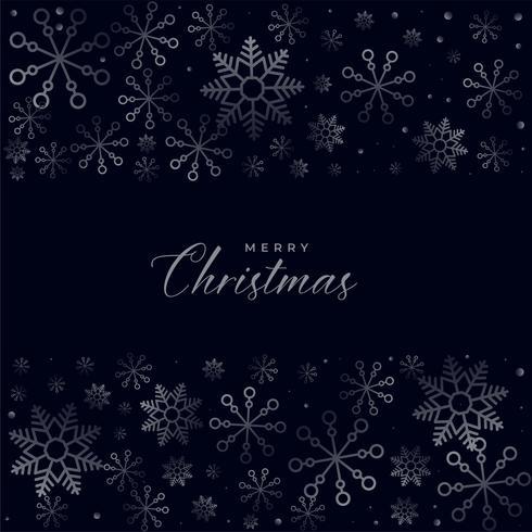 diseño de fondo oscuro de los copos de nieve de Navidad
